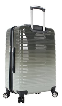 Lucas Luggage ABS Mid Size Hard Case 24 Inches Rolling Suitcase