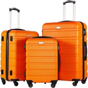 coolife 3 piece luggage sets
