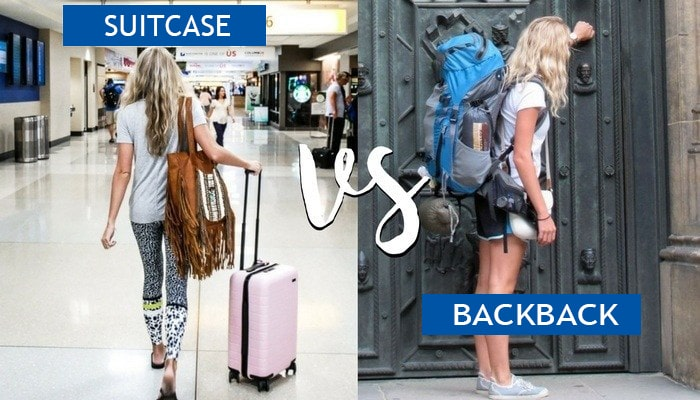 suitcase vs backpack checked luggage